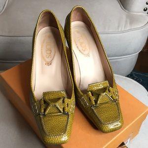TOD'S block heel shoes
